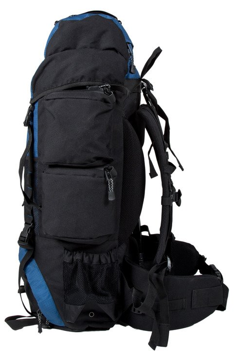 Teton Sports Explorer 4000 blue backpack hero side pockets
