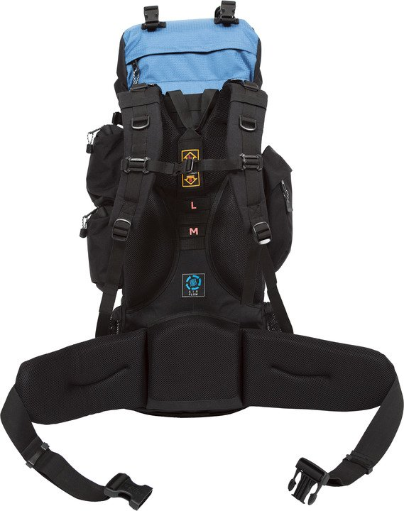 Teton Sports Explorer 4000 blue-backpack hero showing the straps