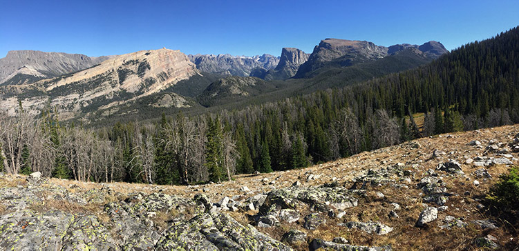 Wind River Range - Bridger Wilderness balen