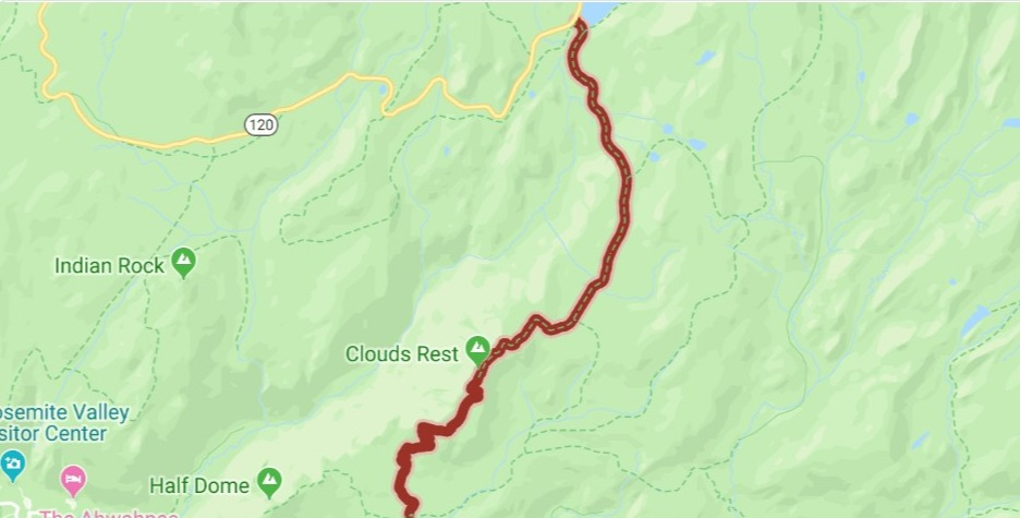 clouds rest hike map