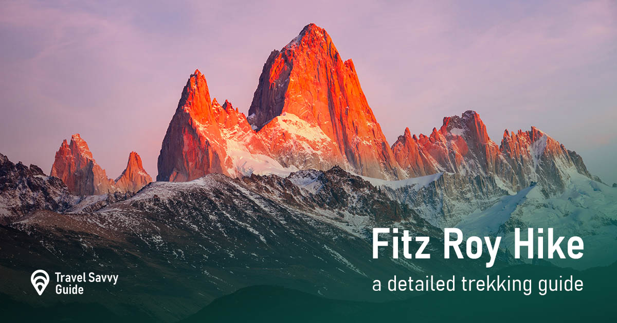 Fitz Roy close up sunrise view.