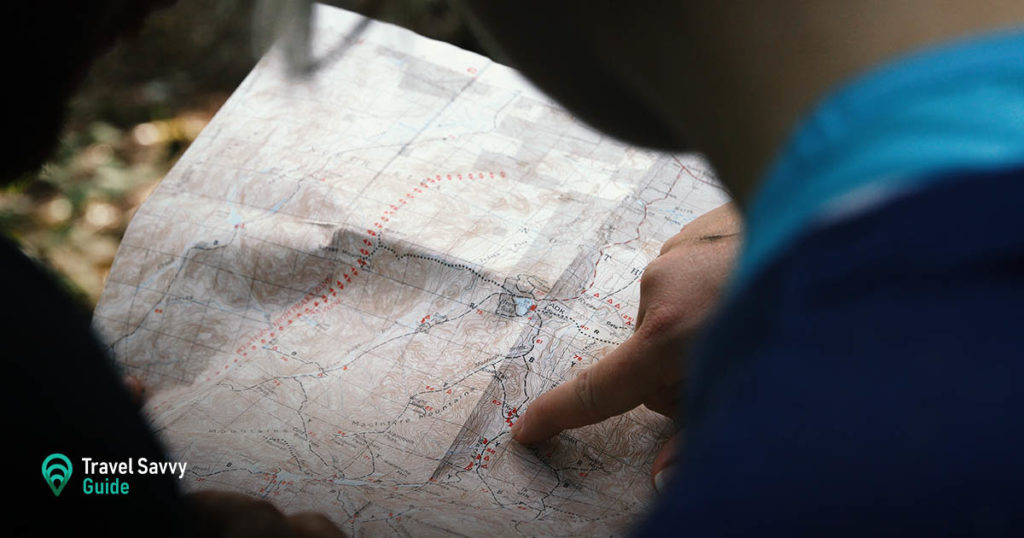 Planning route using map