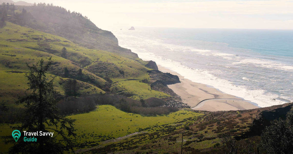 Californian Lost Coast trail overview