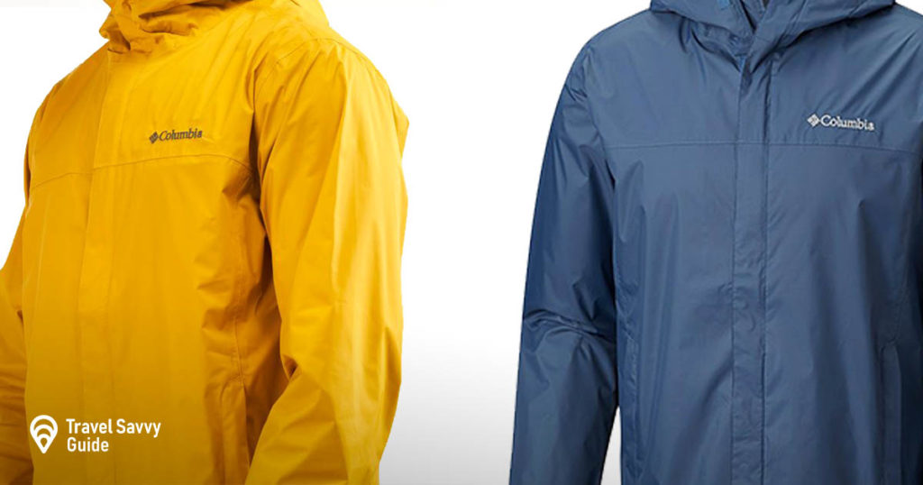 Yellow and Blue 2 Columbia Watertight rain jackets