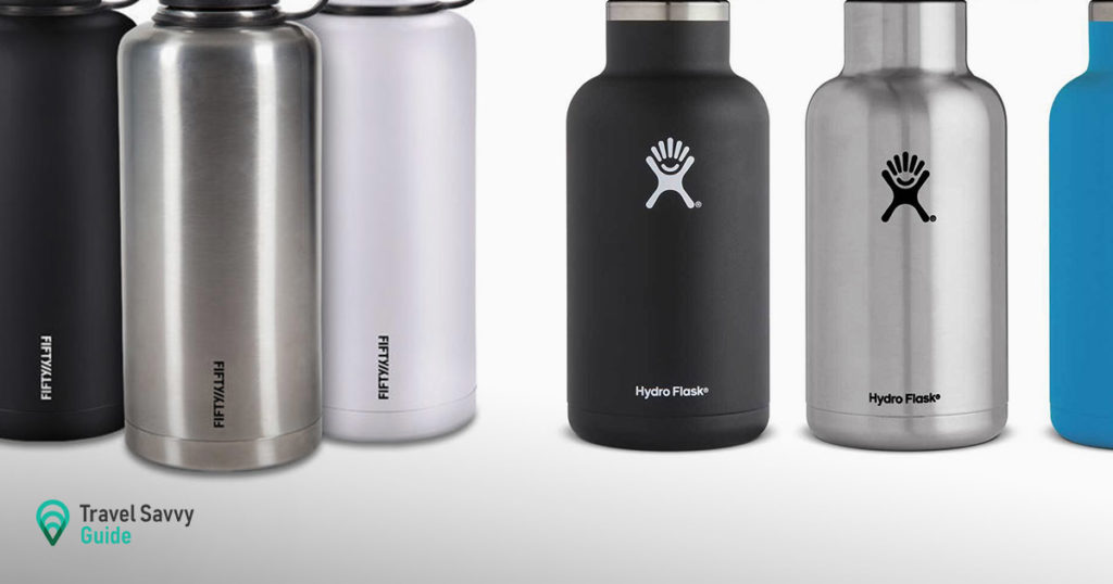 Fifty Fifty vs Hydro Flask drinkware