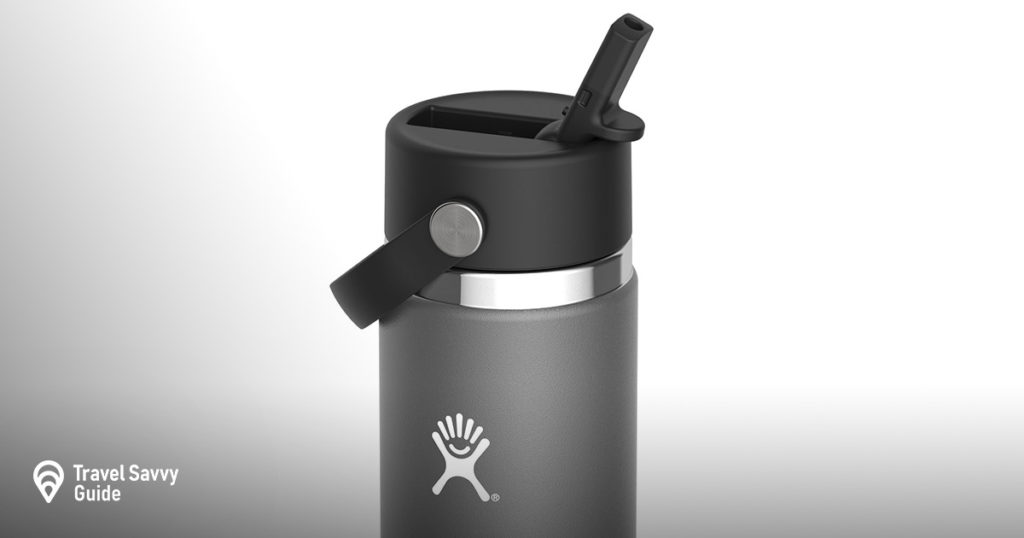 Gray Hydro Flask on a white background