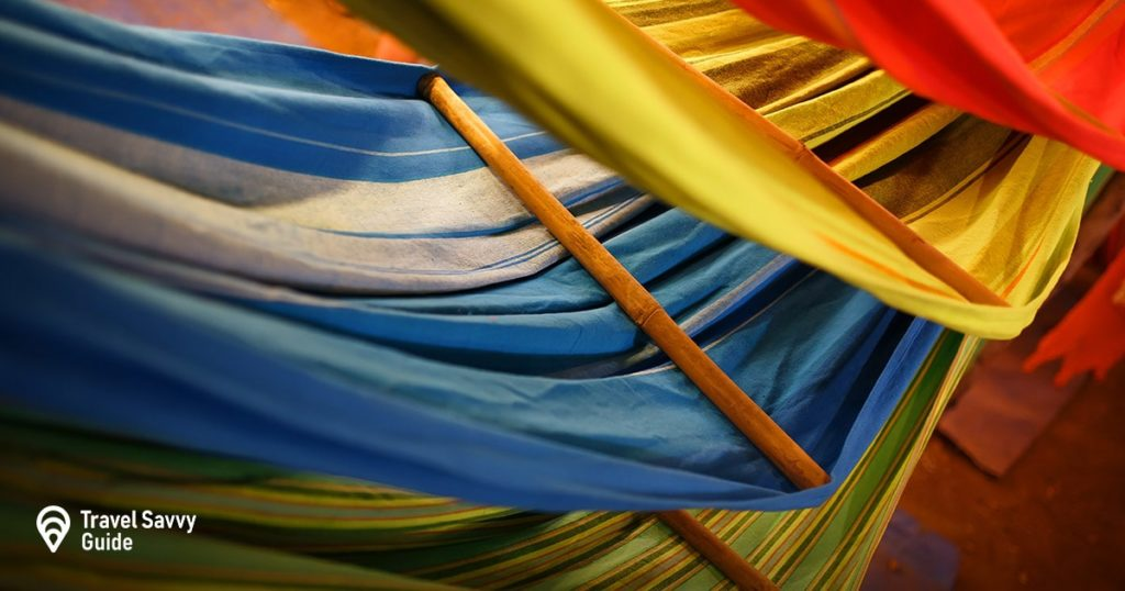 hammocks in different colors