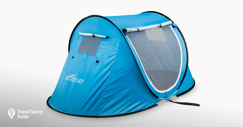 Pop-up Tent an Automatic Instant Portable Cabana Beach Tent - Suitable for Upto 2 People - Doors on Both Sides - UV Protection Sun Shelter - with Carrying Bag, Sets up in Seconds!