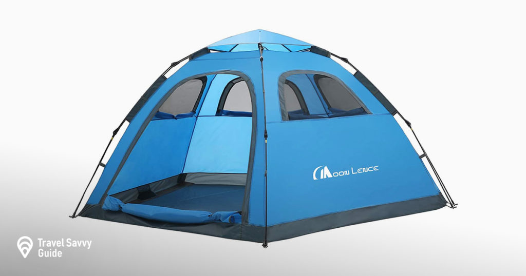 MOON LENCE Instant Pop Up Tent Family Camping Tent 4-5 Person Portable Tent