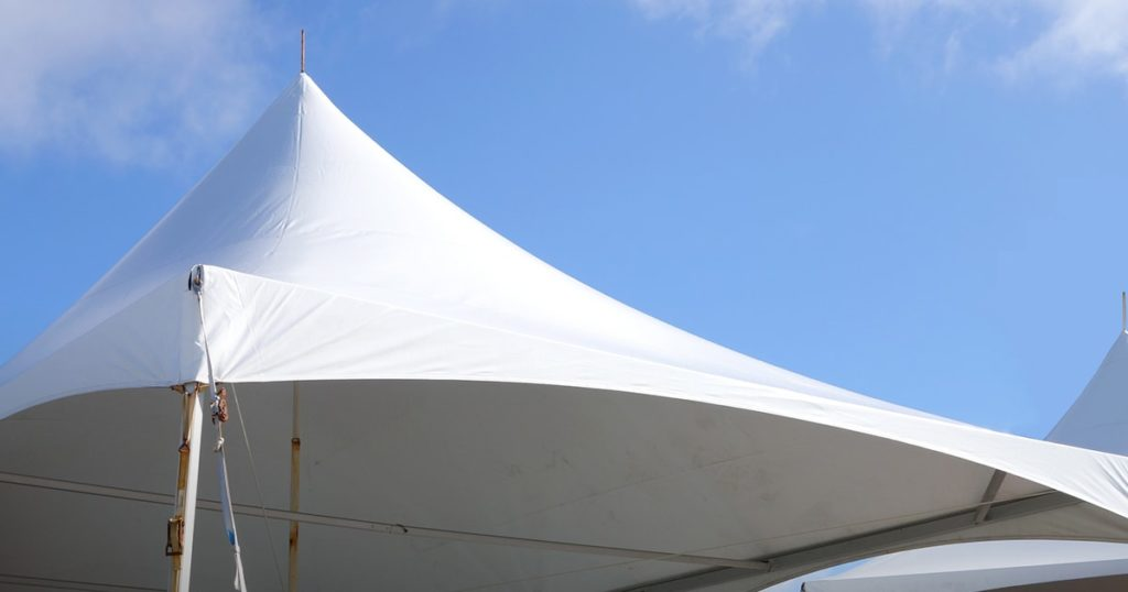white events or entertainment tent top