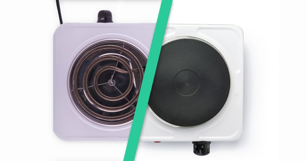 Top view of portable burner electric stoves