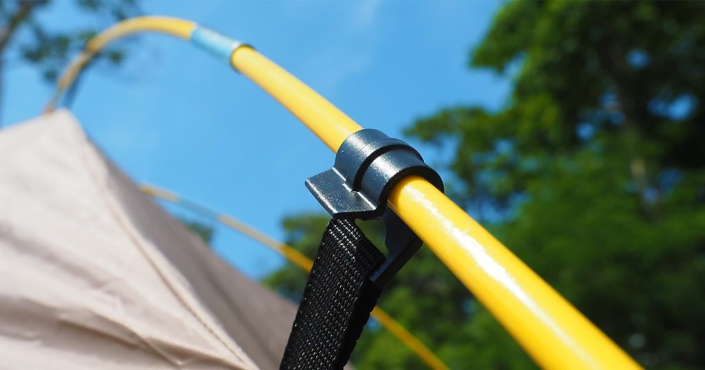 Tent poles used for the tent structure