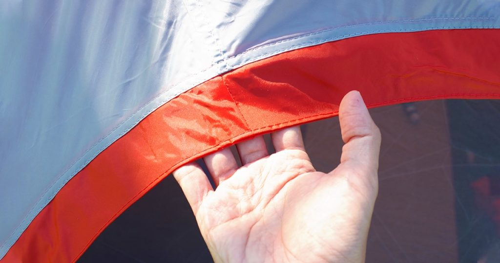 Tent fabric used to cover the tent