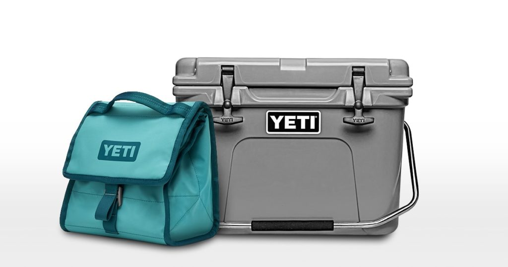 Yeti soft cooler and hard cooler