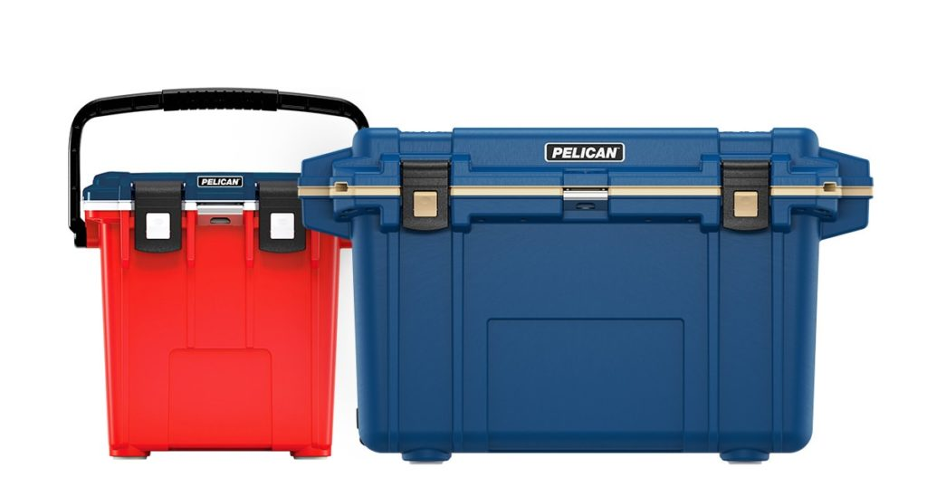 Pelican colored hard coolers