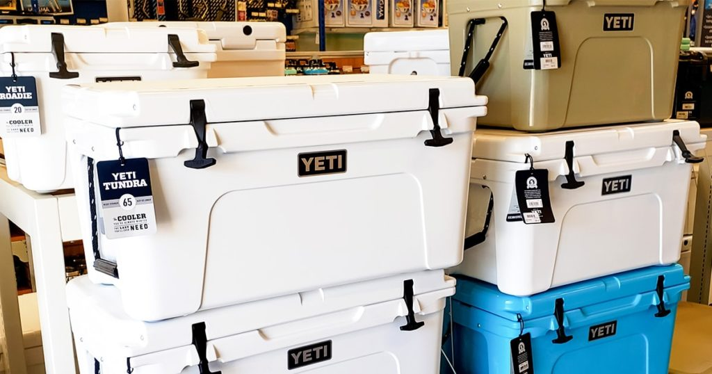 Yeti colored hard coolers