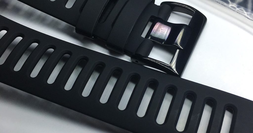 Black colour sport wrist watch replacement bands