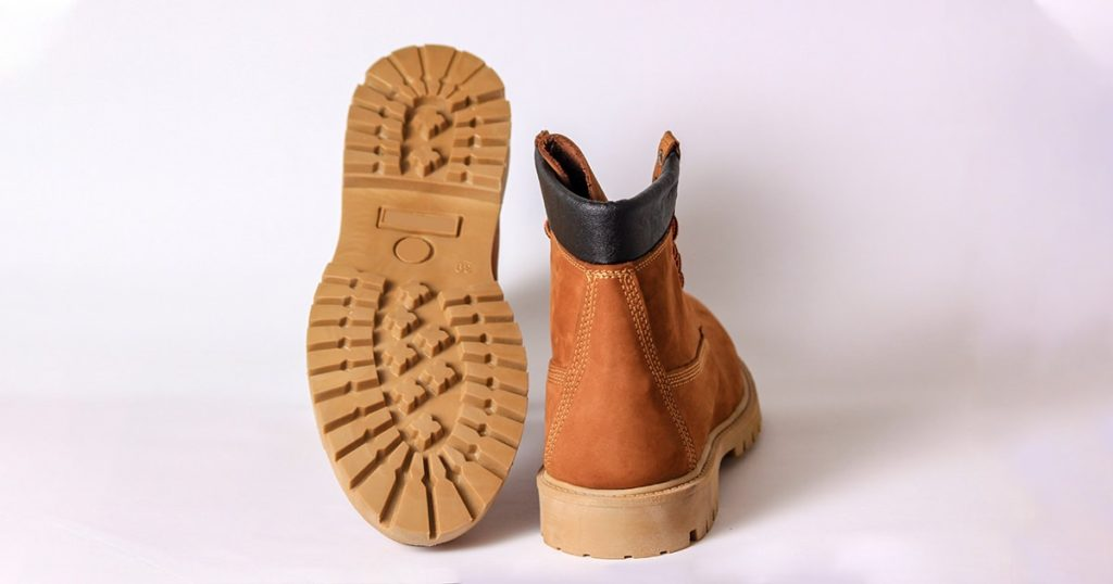Brown working boots, winter boots