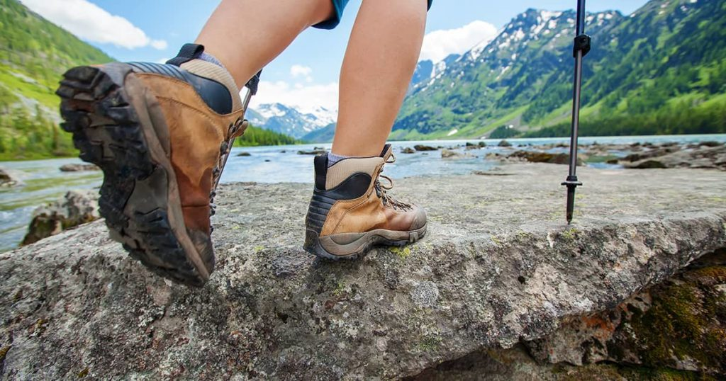 Hiking in working boots