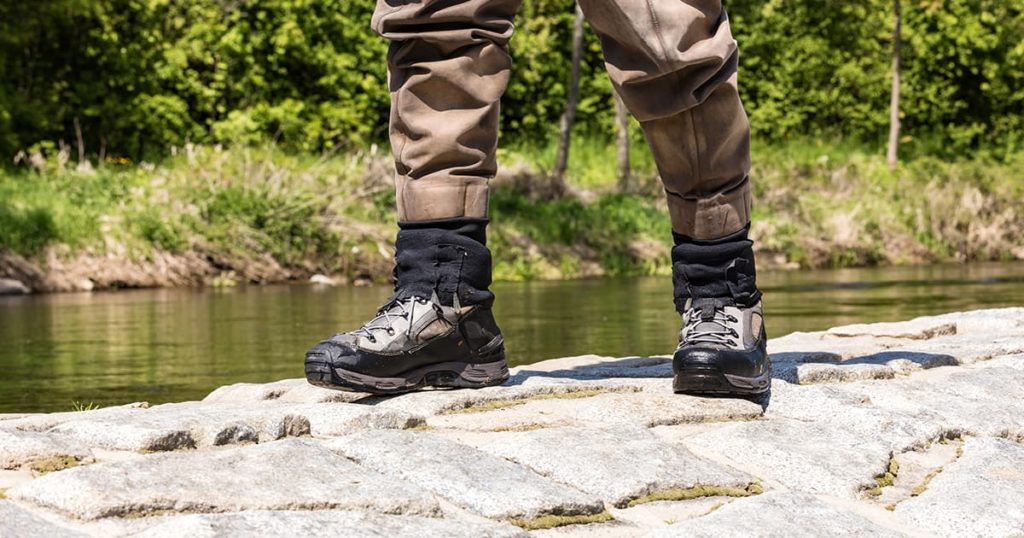 Fishing boots for wading in the river