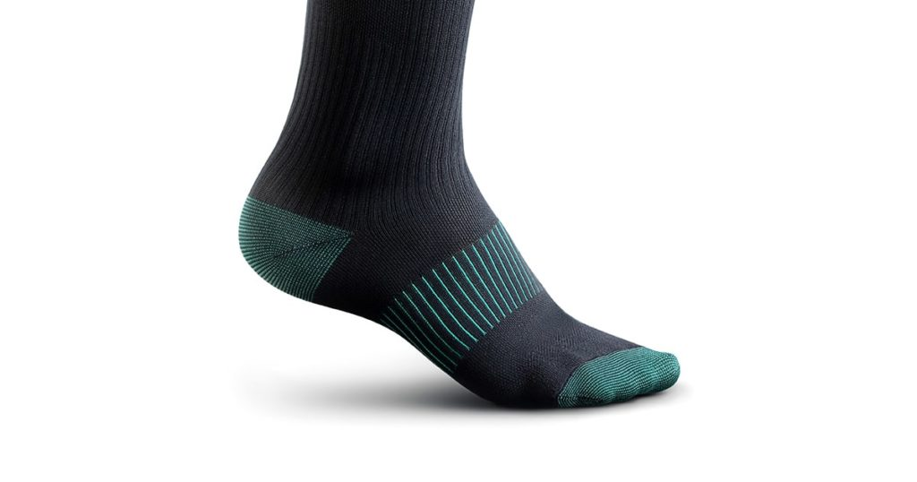 socks gaiters of black color with birch inserts