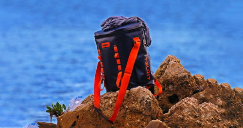 A TOURIT Voyager soft cooler in action