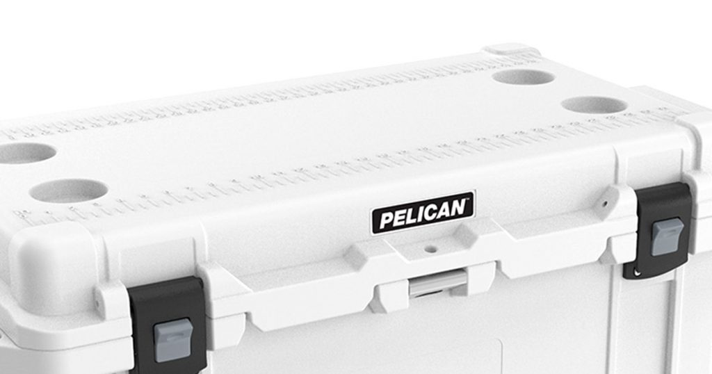 Pelican hard cooler fish scale and bottle opener