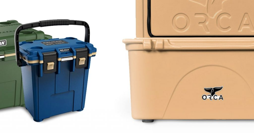 Pelican and ORCA hard coolers