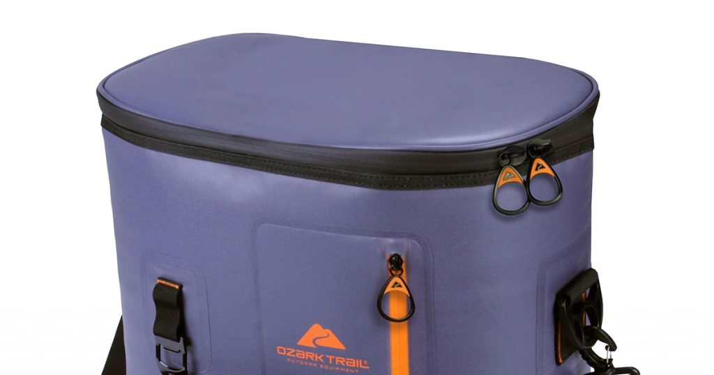 Ozark Trail soft cooler zippers and pockets
