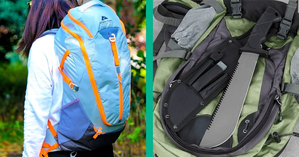 Ozark Trail backpack and camping tool set