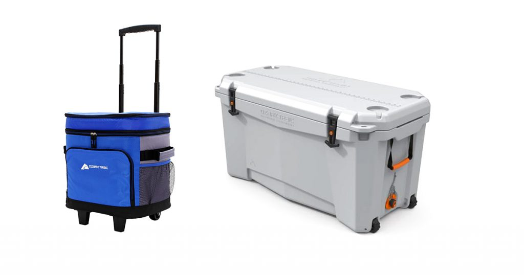 Ozark trail coolers with wheels