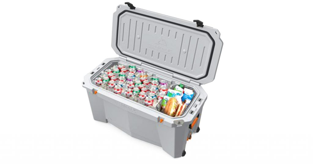 Ozark trail 110-Quart cooler filled with products