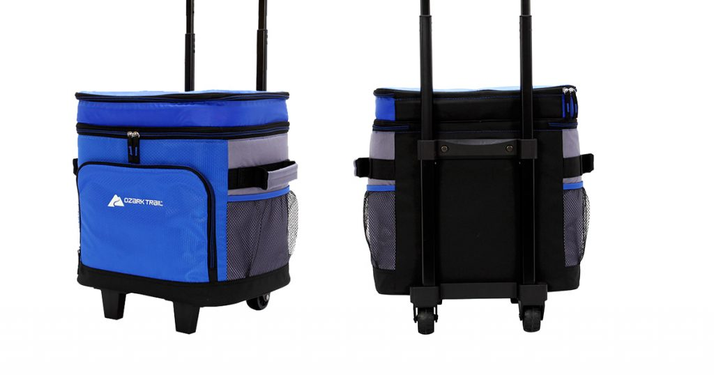 Ozark trail soft-sided wheeled cooler features