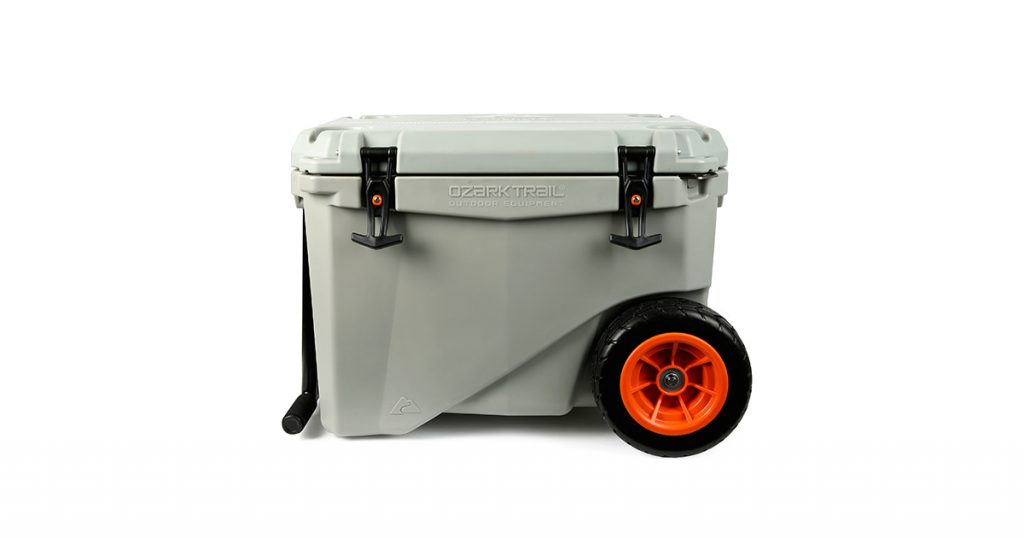 Ozark trail hard-sided wheeled cooler