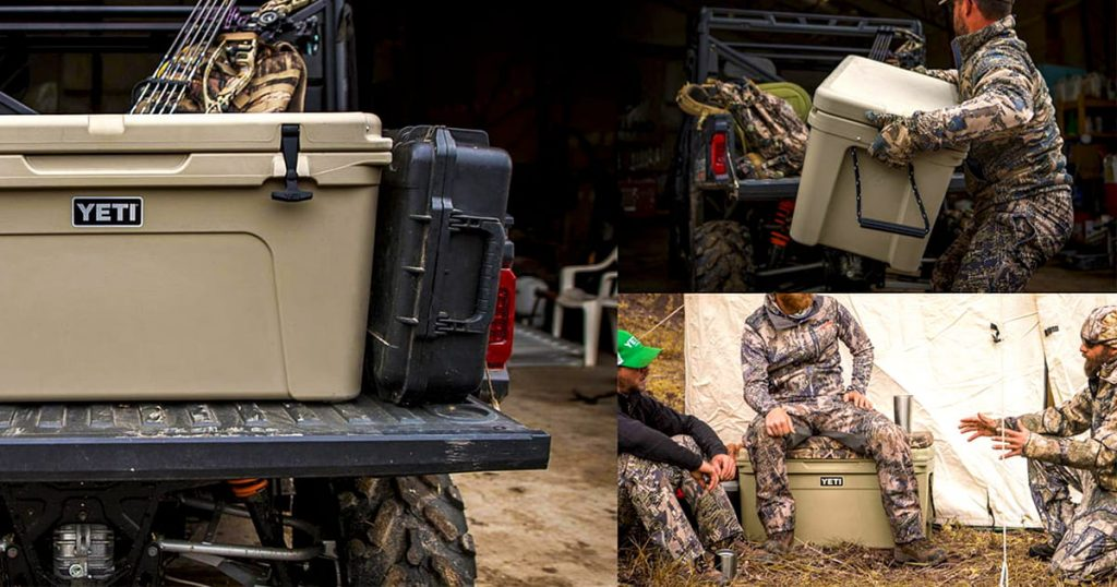 YETI hard cooler durability during outdoor activities