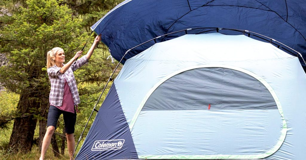 Coleman family tent outdoor