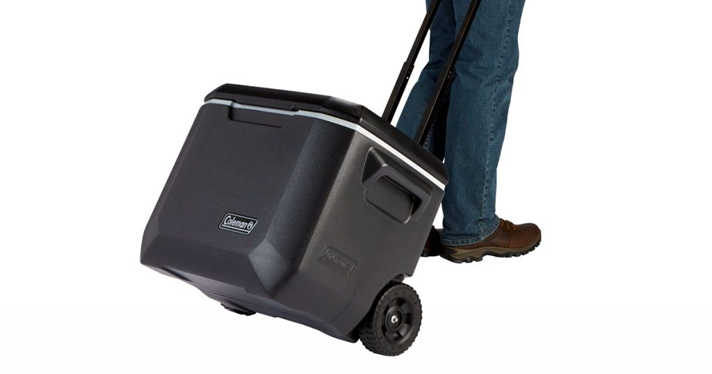 Coleman hard cooler with wheels