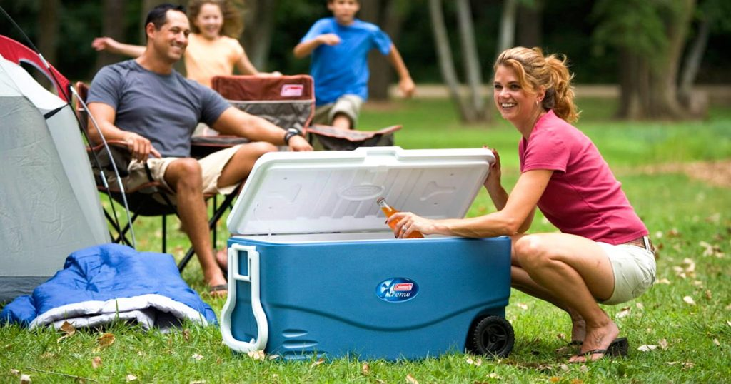 Coleman hard cooler outdoor