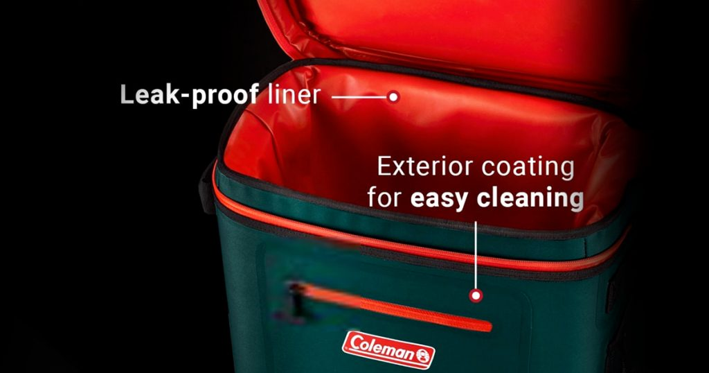 Coleman soft cooler interior features