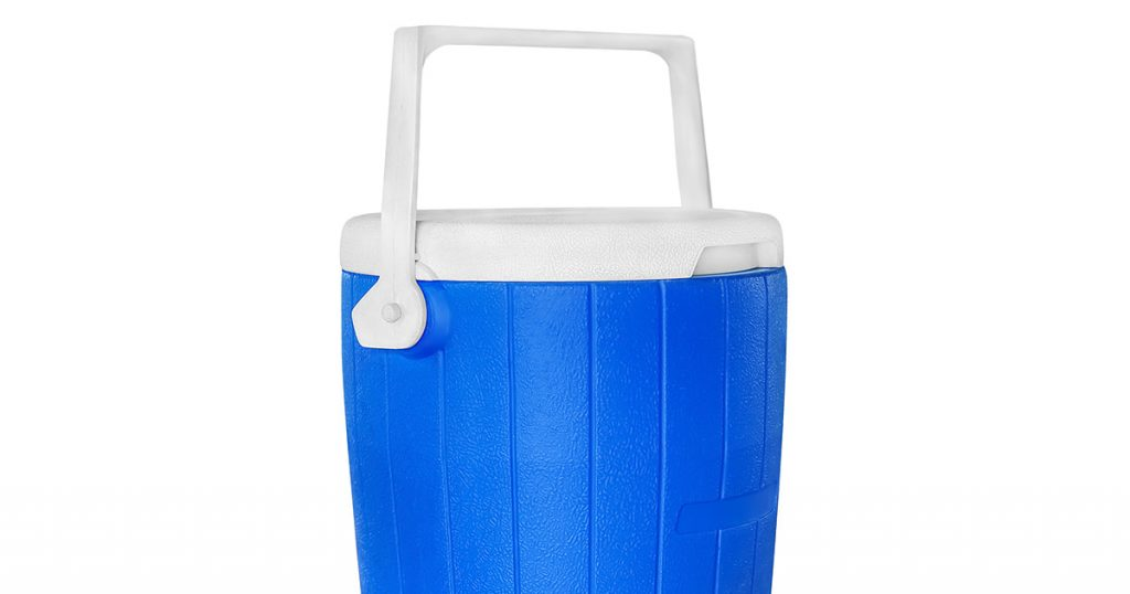 Water cooler tank with tap for drinking water isolated on white with clipping path included.