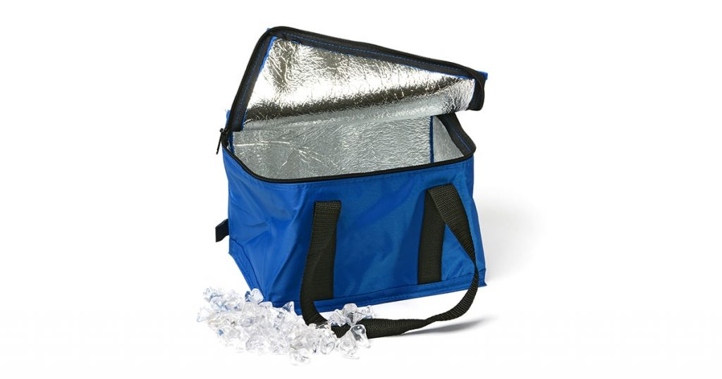 thermal bag on the white background - closeup