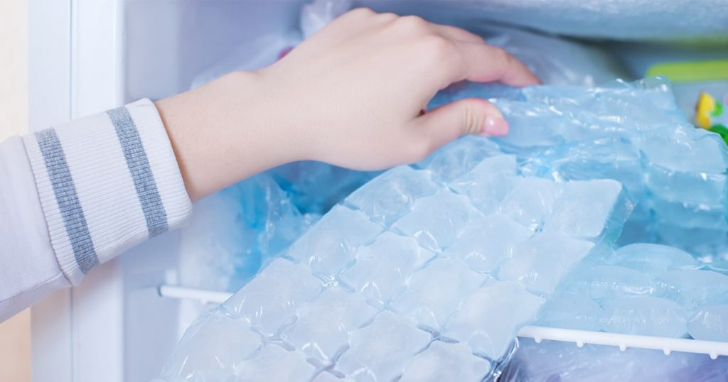 ice cubes in a package