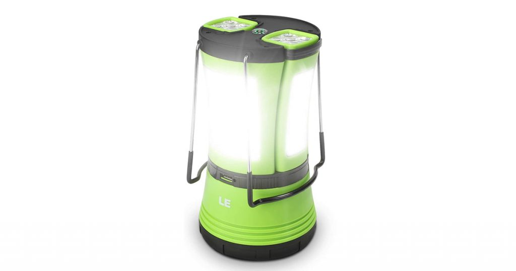 LED Camping Lantern Rechargeable, 600LM, Detachable Flashlight, Perfect Lantern Flashlight for Hurricane Emergency, Hiking, Fishing and More