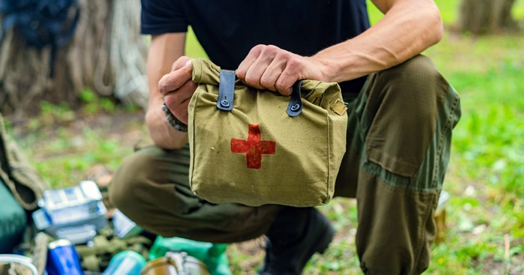 Medical first aid kit outdoor