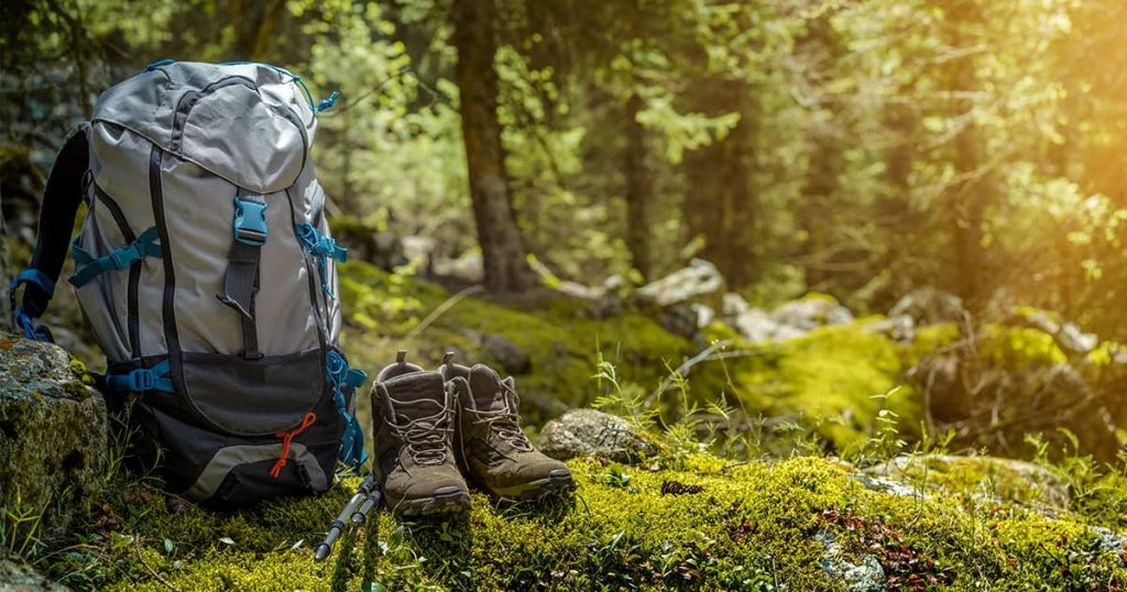backpack-hiking-boots-forest