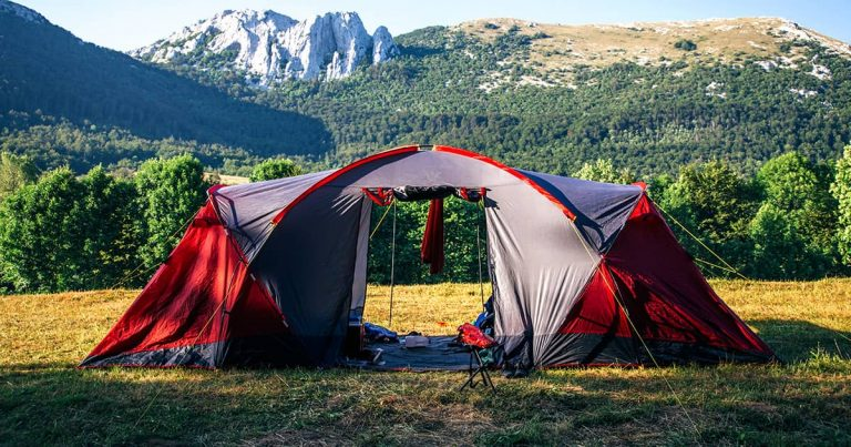 Camping Tent Outdoor Sport Hike Camp in Nature