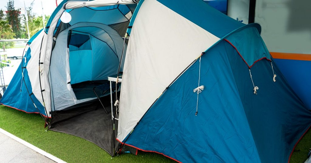 Tent camping, large double room