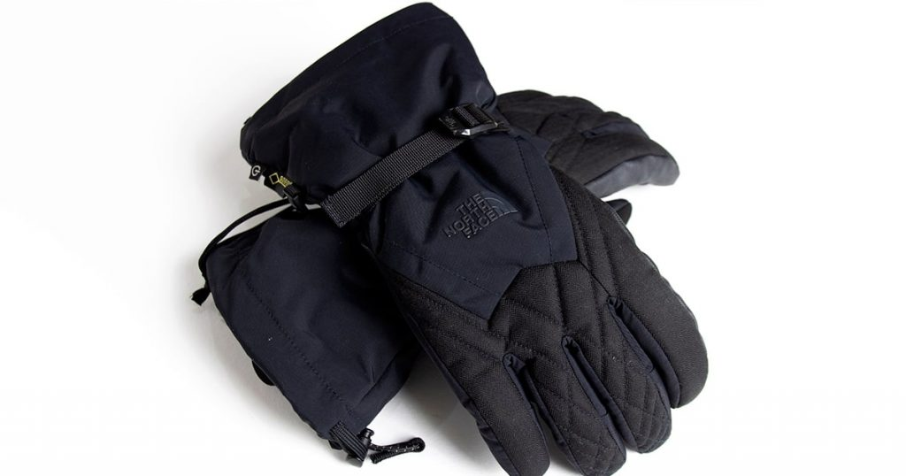 Winter gloves in a white background