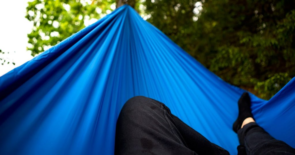 Nap in hammock after long hike